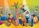 kids book illustration circus clowns