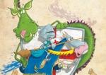 dragon and knight children\'s illustration