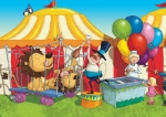 kids book illustration circus lions