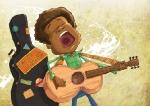 man singing children\'s book illustration