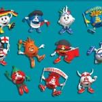 Children's illustration stickers EURO 2012