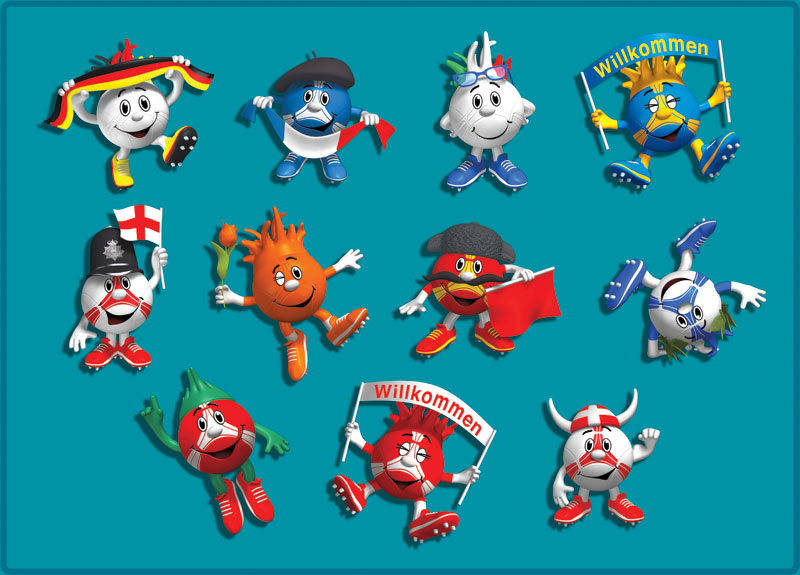 Children's illustration stickers EURO 2012