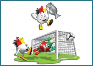 Kids illustration stickers for EURO 2012