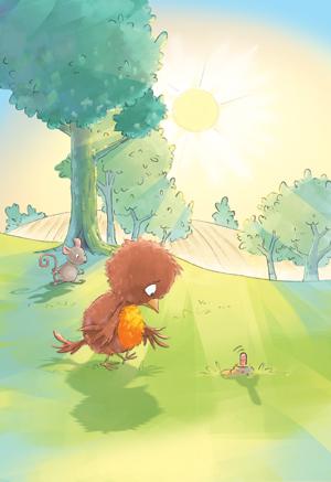 Earlt bird illustration