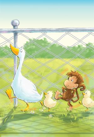 Money illustration, children's book illustration