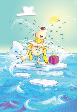 polar bear, children's book illustration